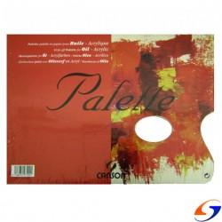 PALETA DE PAPEL DESCARTABLE PARA PINTOR CANSON A3 ARTISTICA Y DIBUJO