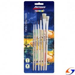 SET PINCELES CERDA ARTESCO X6 PINCELES