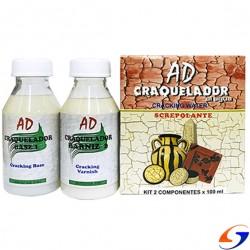 CRAQUELADOR KIT DE 2 COMPONENTES AD 100ML. BARNICES Y COMPLEMENTOS