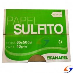 PAPEL SULFITO BLANCO 40GR. 50X65CM. CAJA X8 KILOS PAPELERIA