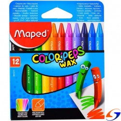 CRAYOLAS MAPED COLOR PEPS X12 CRAYOLAS