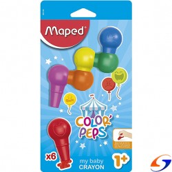 CRAYOLAS MAPED COLOR PEPS BABY X6 CRAYOLAS