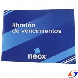 LIBRETON DE VENCIMIENTOS 24HOJAS LIBRETONES y LIBROS