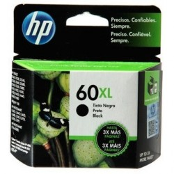 CARTUCHO HP ORIGINAL (60) CC641WL XL NEGRO ORIGINALES