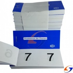 TICKET NUMERADO SP PACK X10 FORMULARIOS