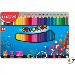 LAPICES DE COLORES MAPED COLOR PEPS X 48 LATA MAPED