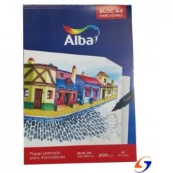 BLOCK DIBUJO ALBA A4 SATINADO 200 GR.