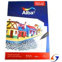 BLOCK DIBUJO ALBA A3 SATINADO 200 GR.