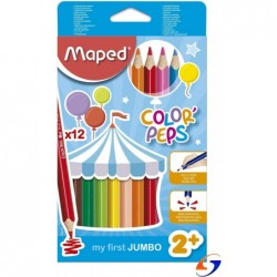 LAPICES DE COLORES MAPED COLOR PEPS JUMBO X12 COLORES