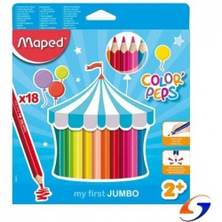 LAPICES DE COLORES MAPED COLOR PEPS JUMBO X18 TEORIA
