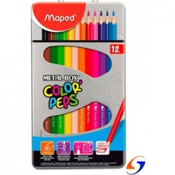 LAPICES DE COLORES MAPED COLOR PEPS X 12 LATA MAPED