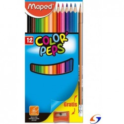 LAPICES DE COLORES MAPED COLOR PEPS X 12 CARTON MAPED