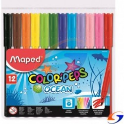 MARCADORES MAPED COLOR PEPS FINOS X12 MAPED