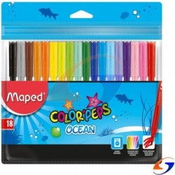 MARCADORES MAPED COLOR PEPS FINOS X18 MAPED