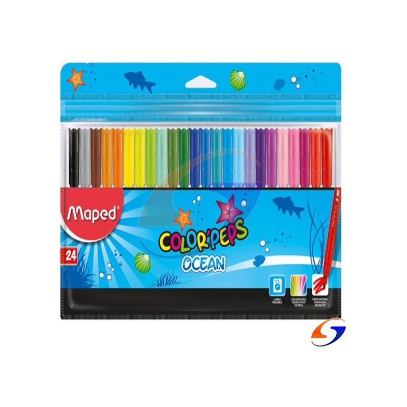 MARCADORES MAPED COLOR PEPS FINOS X24 MAPED