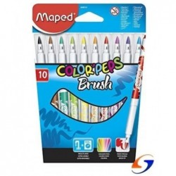 MARCADORES MAPED PINCEL COLOR PEPS FINOS X 10 MAPED