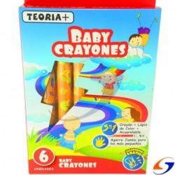 CRAYOLAS TEORIA JUMBO BABY ACUARELABLE X6 MAPED