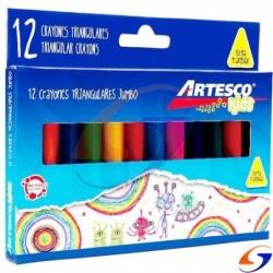 CRAYOLAS ARTESCO JUMBO GRUESAS X12 ARTESCO