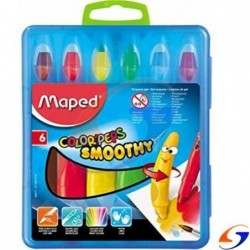 CRAYOLAS MAPED COLOR PEPS GEL X6 MAPED