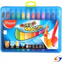 CRAYOLAS MAPED COLOR PEPS GEL X12 MAPED