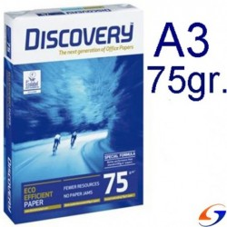 HOJAS A3 DISCOVERY 75 GR. X 500 PAPELES