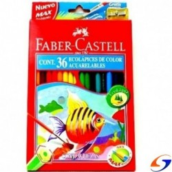 LAPICES DE COLORES FABER ACUARELABLE X 36 FABER