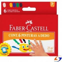 DACTILO PINTURA FABER X 6 COLORES DACTILOPINTURAS
