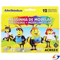 PLASTICINA ACRILEX X12 COLORES ACRILEX