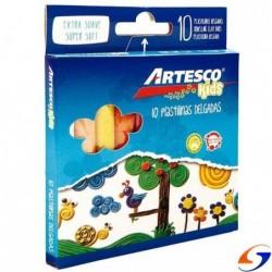 PLASTICINA ARTESCO X10 COLORES MASAS Y PLASTICINAS