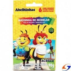PLASTICINA ACRILEX X6 COLORES ACRILEX