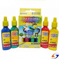 COLA VINILICA ACRILEX COLOR 37GR. ADHESIVOS