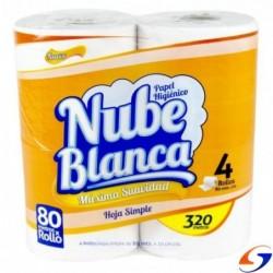 HIGIENICO NUBE BLANCA 80MTS. X40 ROLLOS NUBE BLANCA