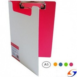 TABLA CON APRETAPAPEL PLASTICA A5