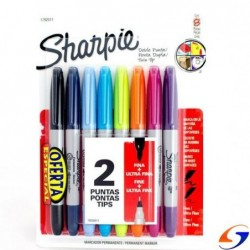 MARCADORES SHARPIE DOBLE PUNTA X8 SHARPIE