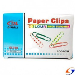 CLIPS COLOR 28MM. CAJA X100