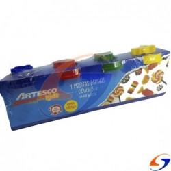 MASA MODELAR ARTESCO 4 COLORES DE 140GR. MASAS Y PLASTICINAS