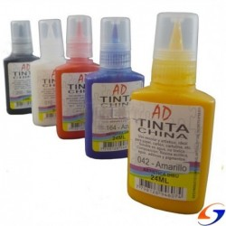 TINTA CHINA AD 24 ML. TINTAS
