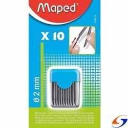 MINAS MAPED 2 MM. PARA COMPAS X 10