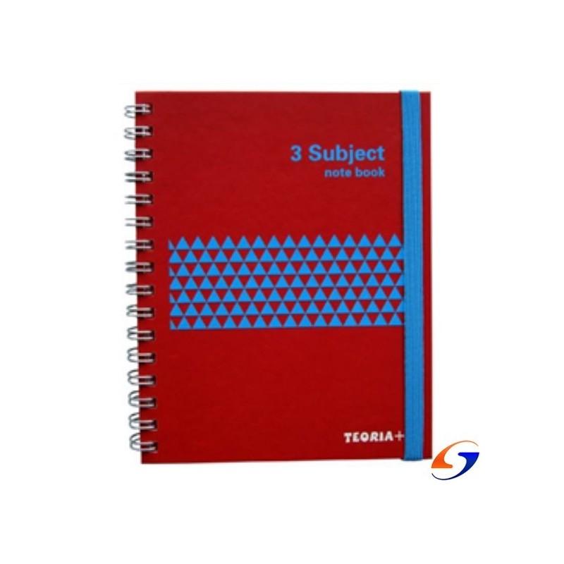 CUADERNO TEORIA A5 TAPA DURA 3 DIVISIONES 120 HOJAS TEORIA