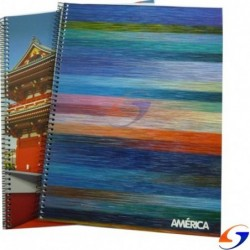 CUADERNOLA AMERICA TAPA FLEXIBLE 96 HOJAS AMERICA