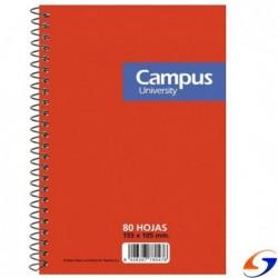 LIBRETA CAMPUS ESPIRAL 80 H. 155X105MM. LIBRETAS
