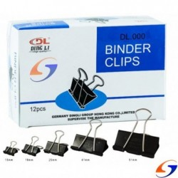 APRIETAPAPEL DOBLE CLIP 19 MM. CAJA X12 FOSKA