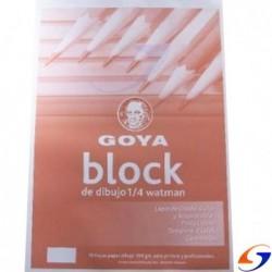 BLOCK DIBUJO CABALLITO GOYA 1/ 4 WATMAN 95 GR. GOYA