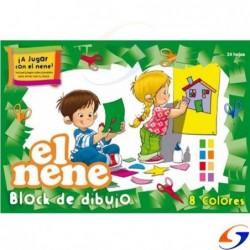 BLOCK CARTULINA EL NENE A4 COLOR