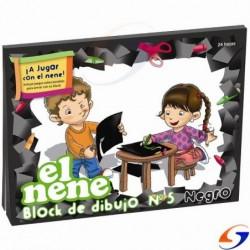 BLOCK CARTULINA EL NENE A4 NEGRA