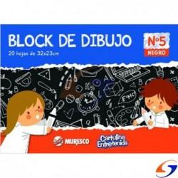 BLOCK CARTULINA NEGRA MURESCO A4