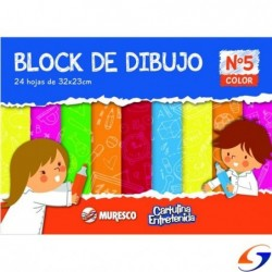 BLOCK CARTULINA A4 COLOR MURESCO BLOCKS