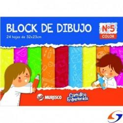 BLOCK CARTULINA COLOR MURESCO A4