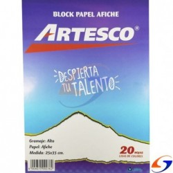 BLOCK AFICHE ARTESCO 25X35CM.