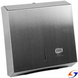 DISPENSADOR TOALLAS PLEGADAS ELITE METAL INOX ELITE